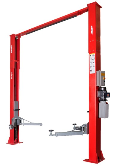 U-T40B arch type clear floor 4t capacity two post vehicle lift