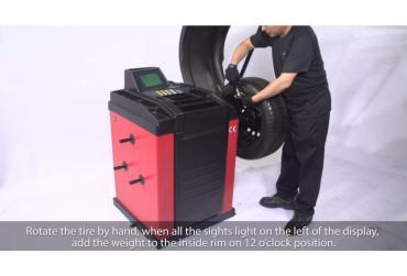Product Videos - U573 Wheel Balancer Unite Auto Equipment Tire Balancer