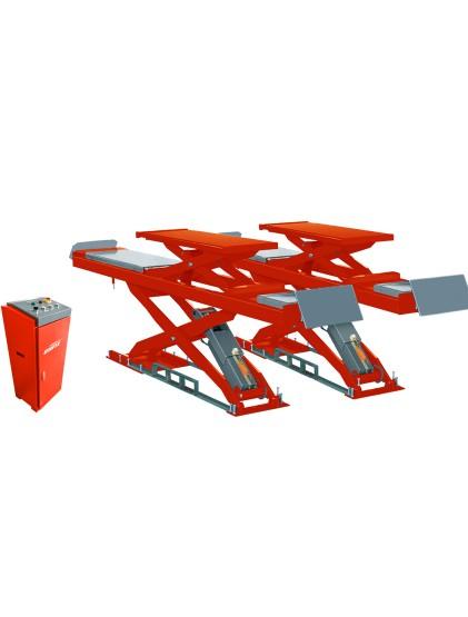 U-D35 solid steel structure wheel alignment scissor lift built in lifting platforms