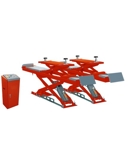 U-D35C solid steel structure wheel alignment scissor lift built in lifting platforms