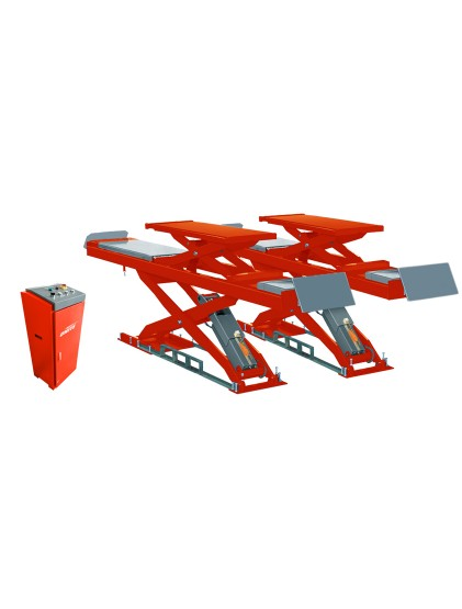 U-D45 solid steel structure wheel alignment scissor lift built in lifting platforms