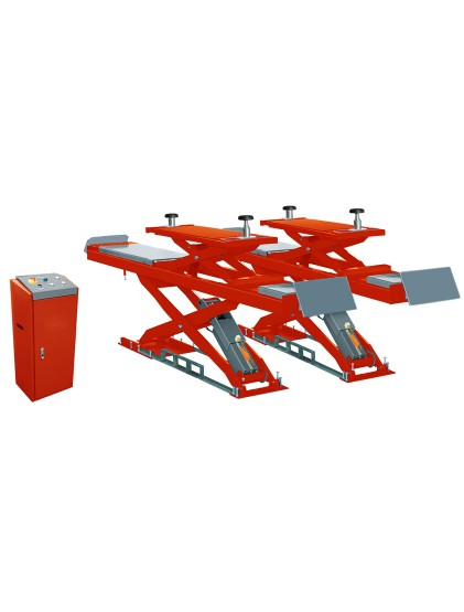 U-D45C solid steel structure wheel alignment scissor lift built in lifting platforms