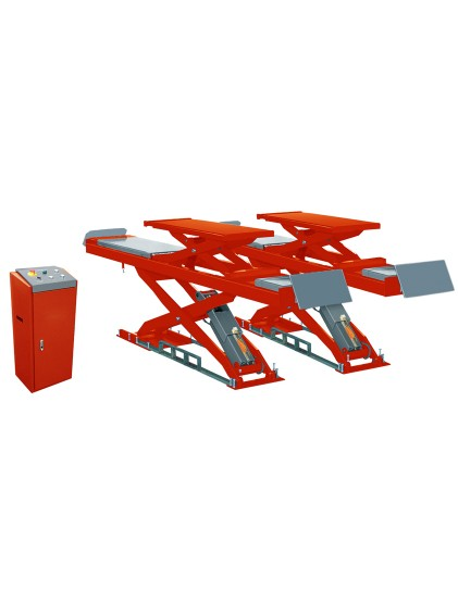 U-D45H solid steel structure wheel alignment scissor lift built in lifting platforms